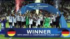 La selección sub-21 de Alemania celebra el título del Europeo 2017