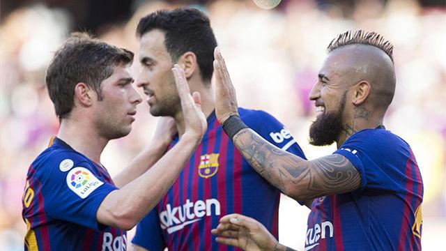 Sergi Roberto, Umtiti y Vidal, titulares en la Supercopa de España
