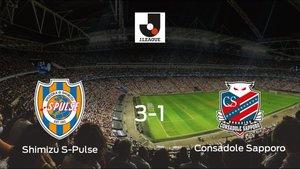 El Shimizu S-Pulse se queda con los tres puntos frente al Consadole Sapporo (3-1)