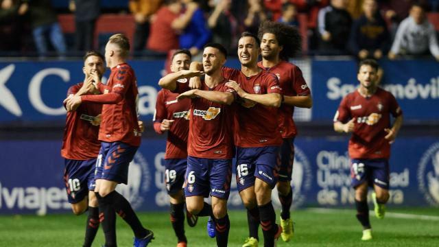 Tercera victoria consecutiva del Osasuna