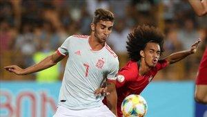 El valencianista Ferran Torres fue titular en el conjunto español