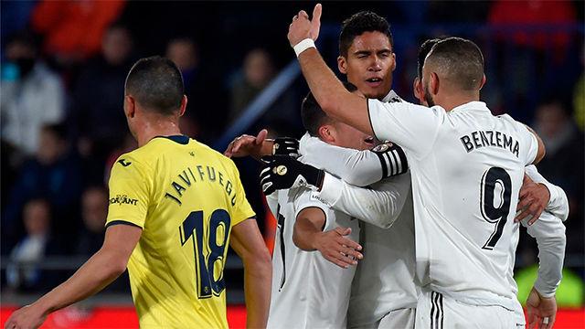 Varane anotó el segundo gol del Madrid ante el Villarreal