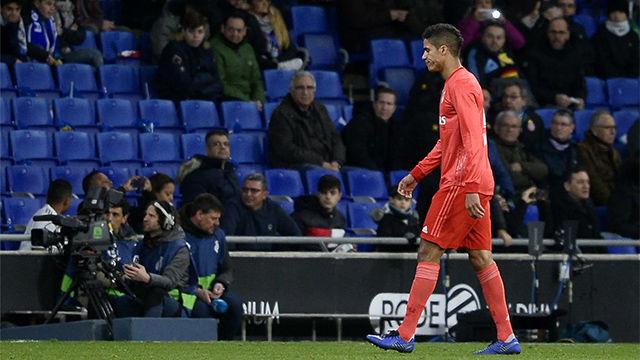 Varane fue expulsado ante el Espanyol