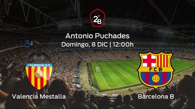 Jornada 16 de la Segunda División B: previa del duelo Valencia Mestalla - Barcelona B