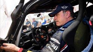 Sainz acabó segundo con su Mini