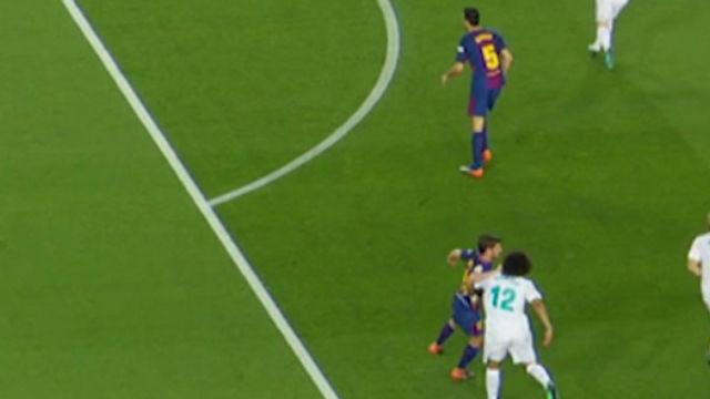La agresión de Sergi Roberto a Marcelo, al detalle