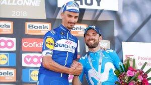 Alaphilippe superó a Valverde en la edición de 2018