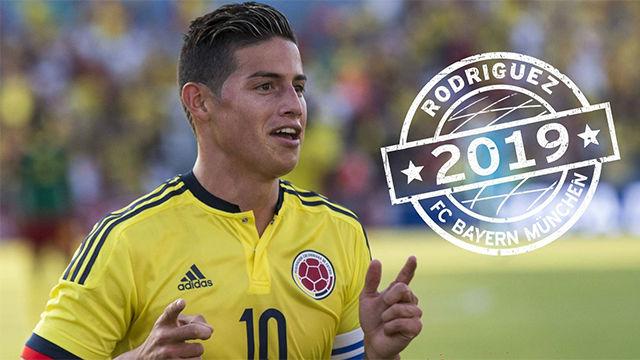 Así ha anunciado la TV del Bayern la llegada de James Rodríguez
