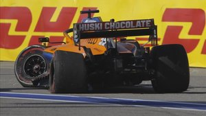 Así quedó el monoplaza de Sainz tras el accidente