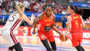 Astou Ndour volvió a ser determinante para el triunfo de España