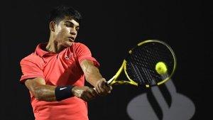 Carlos Alcaraz, disputando un torneo