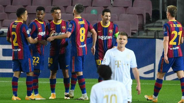 Coutinho celebra su reestreno en Champions con el Barça con gol