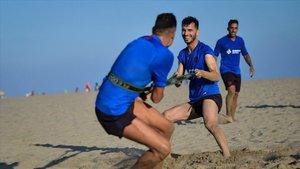 El duro trabajo físico no faltó en Castelldefels