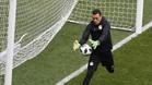 Elhadary jugará hoy, a sus 45 años, como portero titular de Egipto