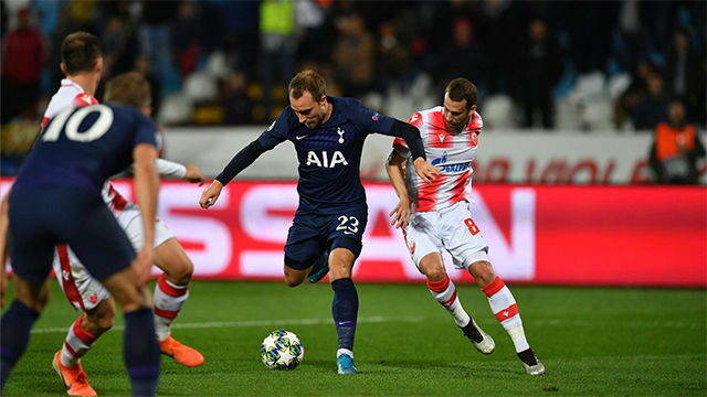 Eriksen puso la guinda en la goleada del Tottenham