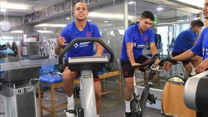Ferrao, pasando la revisión médica con el Barça el primer día de pretemporada
