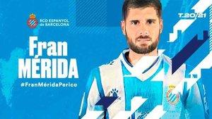 Fran Mérida ha fichado por el Espanyol