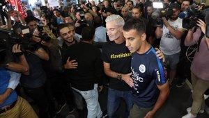 Hakeem al Araibi llegó a Australia tras ser detenido por dos meses
