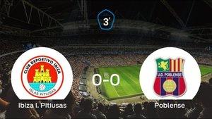 El Ibiza I. Pitiusas y el Poblense consiguen un punto después de empatar a cero