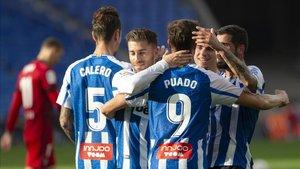 Imagen de archivo de una celebración de un gol del Espanyol