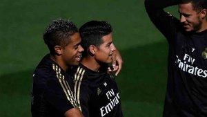 Isco, en un entrenamiento del Real Madrid