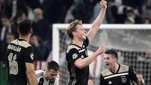 De Jong, feliz tras eliminar a la Juventus