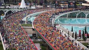 Las dos grandes carreras de Valencia siguen batiendo récords