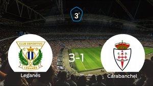El Leganés B gana 3-1 en su estadio ante el RCarabanchel