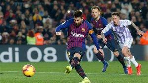 Leo Messi no ha estado acertado en su segundo lanzamiento de penalti