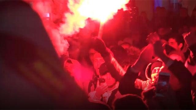 Los aficionados del Nantes se echan a la calle para homenajear a Sala