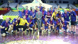 Los campeones celebraron el título en Doha