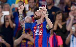 Messi marcó el primer gol del Barça