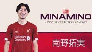 Minamino ya es oficialmente nuevo jugador del Liverpool