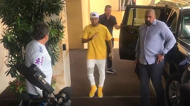 Neymar ya está concentrado con la selección brasileña en Miami