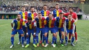 El once del Andorra con el que salió a jugar ante el Viladecans