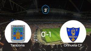 El Orihuela logra imponerse en el estadio del Tarazona por 0-1 y se pone por delante en el duelo de ida de los playoff de ascenso de Tercera División (0-1)