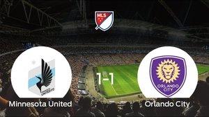 El Orlando City logra un empate a 1 frente al Minnesota United
