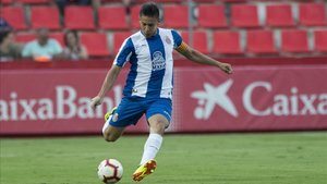 Óscar Duarte jugando con el RCD Espanyol