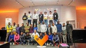 Presentación de la élite del Maratón Valencia Trinidad Alfonso EDP