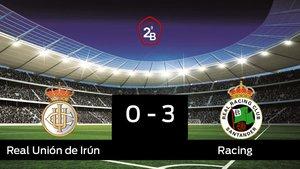 El Racing gana en el Stadium Gal a la Real Unión de Irún