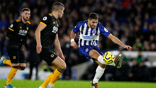 Reparto de puntos entre el Brighton y el el Wolverhampton (2-2)