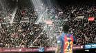 Samuel Umtiti, este sábado durante el partido ante el Athletic