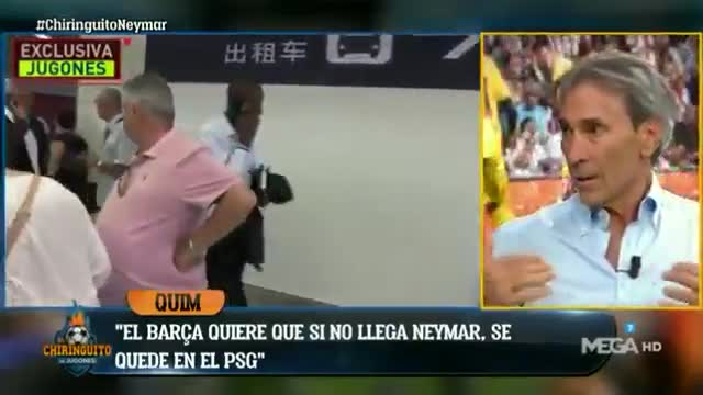 Según el Lobo Carrasco, esta noche Neymar está más cerca que nunca del Barcelona