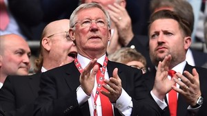 Sir Alex Ferguson es un habitual de Old Trafford