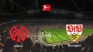 El Stuttgart se queda con los tres puntos ante el Mainz 05 (1-4)