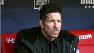 El técnico del Atlético de Madrid, Diego Simeone