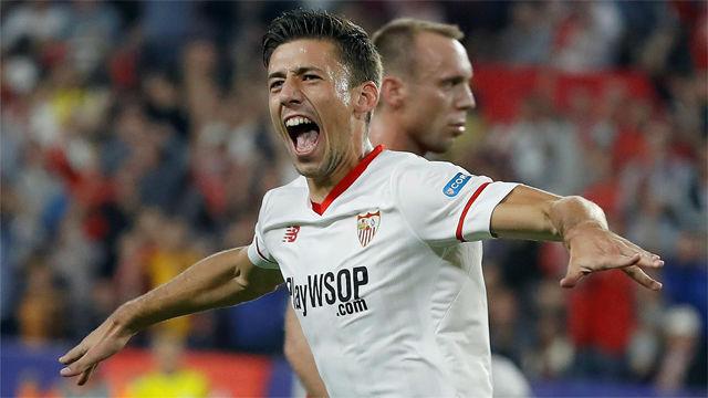 Todos los goles de Lenglet con la camiseta del Sevilla