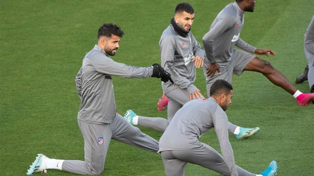 Último entrenamiento de Atlético antes de recibir al Leverkusen