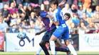 Una acción de la final entre el juvenil del FC Barcelona y del RCD Espanyol