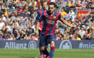 Xavi Hernández puede jugar contra el Espanyol su partido número 500 en la Liga  BBVA 3252fabc81a